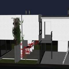 Dos Dulpex en GreenVille 2: Jardines de invierno de estilo minimalista por Development Architectural group