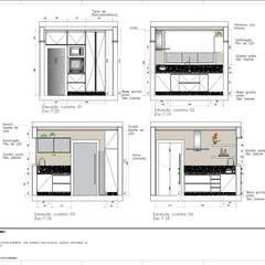 Projeto Residencial - Elevações cozinha: Cozinhas embutidas  por A|S Studio Criativo 3D -  Soluções Inteligentes em projetos técnicos