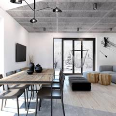 Salon/jadalnia: styl , w kategorii Salon zaprojektowany przez 365 Stopni