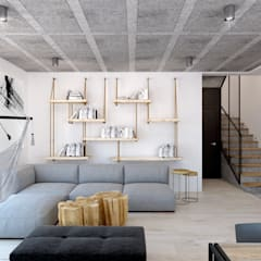 Salon/jadalnia.: styl , w kategorii Salon zaprojektowany przez 365 Stopni