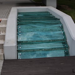 Green Pebble TIles garden - pebble mosaic tile:  Garden Shed by Lux4home™ Indonesia