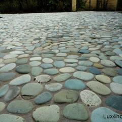 Green Pebble Tile floor - Pebble mosaic:  Floors by Lux4home™ Indonesia