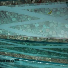 Green Pebble Tile floor - Pebble mosaic:  Garden Pool by Lux4home™ Indonesia