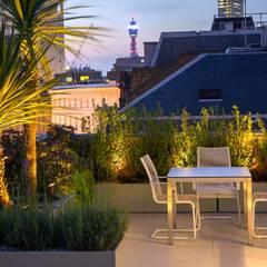 Roof terrace landscape design:  Terrace by MyLandscapes Garden Design