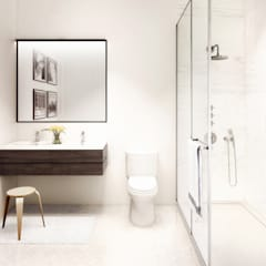 Bathroom by GD Arredamenti, Mediterranean Solid Wood Multicolored