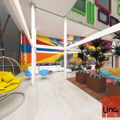 Lounge Recepção: Hotéis  por Una.AD