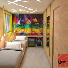 SUÍTE DOUBLE: Hotéis  por Una.AD