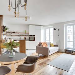 Projet Crozatier: Salle à manger de style de style Classique par Eline Sango Architecture