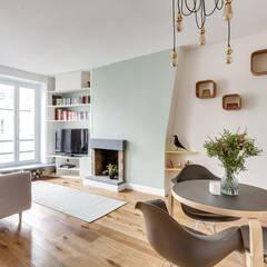 Projet Crozatier: Salon de style  par Eline Sango Architecture