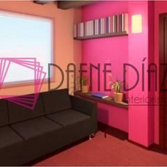 Propuesta sala de espera para consultorio medico: Clínicas / Consultorios Médicos de estilo  por Dafne Diaz Interiorista