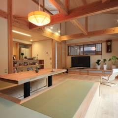 燈の家: 田村建築設計工房が手掛けたリビングです。