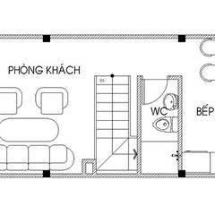 Bản vẽ mặt bằng tầng 1:  Nhà gia đình by Công ty TNHH Thiết Kế Xây Dựng Song Phát