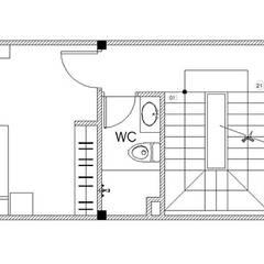 Bản vẽ mặt bằng tầng 2:  Nhà gia đình by Công ty TNHH Thiết Kế Xây Dựng Song Phát