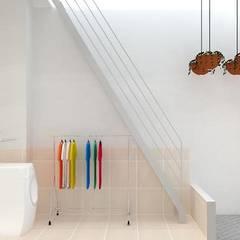 Xây nhà 2 tầng thiết kế 3 phòng ngủ rộng thoáng chỉ với 680 triệu:  Cầu thang by Công ty TNHH Xây Dựng TM – DV Song Phát