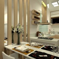 Apartamento Alta - Projeto de Interiores: Salas de jantar  por Multiplanos Arquitetura