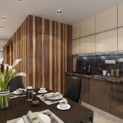 Квартира на Заозерной: Столовые комнаты в . Автор – VADIM MALTSEV DESIGN&DECOR | FURNITURE,
