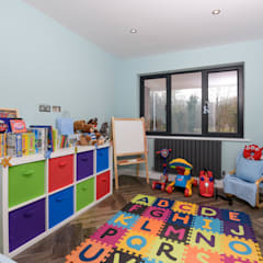 Pinner House Extension and loft Conversion:  Nursery/kid's room by The Market Design & Build