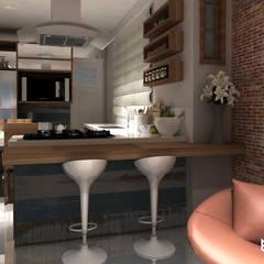 مطبخ ذو قطع مدمجة تنفيذ Multiplanos Arquitetura
