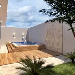 Residencia Acacias: Piscinas de jardim  por Sitá Arquitetura e Urbanismo