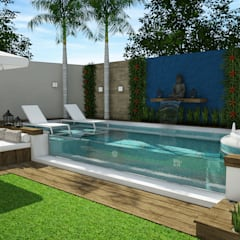 Garden Pool by Rodrigo Westerich - Design de Interiores
