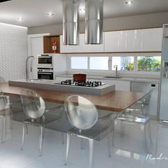 Espaço Gourmet: Armários e bancadas de cozinha  por Rodrigo Westerich - Design de Interiores