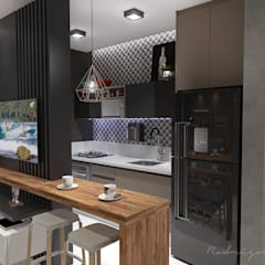 Kitchen units by Rodrigo Westerich - Design de Interiores, Industrial Wood Wood effect