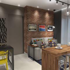 Studio: Salas de estar  por Rodrigo Westerich - Design de Interiores