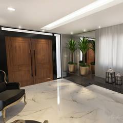 الممر الحديث، المدخل و الدرج من Rodrigo Westerich - Design de Interiores حداثي خشب Wood effect