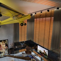 Mezanino - Quarto - Loft Residencia: Corredores e halls de entrada  por Rodrigo Westerich - Design de Interiores