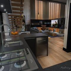 Loft Residencial por Rodrigo Westerich - Design de Interiores Industrial