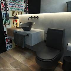Banheiro Social  - Loft Residencial: Banheiros  por Rodrigo Westerich - Design de Interiores