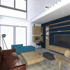 Vue sur salon.: Salon de style  par Lionel CERTIER - Architecture d'intérieur