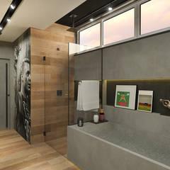 Banheiro para um Jogador de Futebol: Banheiros  por Rodrigo Westerich - Design de Interiores