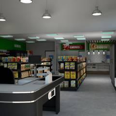 Mercado: Lojas e imóveis comerciais  por Imaginare Arquitetura e Interiores