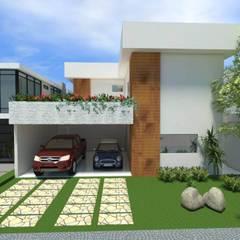 Fachada: Casas minimalistas por Imaginare Arquitetura e Interiores
