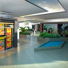 POPAYAN MALL: Centros comerciales de estilo  por JUAN CASTRO ARQUITECTO,