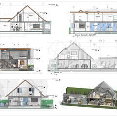 REMODELACIÓN DE VIVIENDA GMS. FL. Miami. USA.: Salas / recibidores de estilo  por Eisen Arquitecto