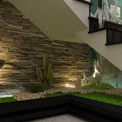 Khu vực phòng khách – bếp – phòng ăn:  Cầu thang by Công ty TNHH Xây Dựng TM – DV Song Phát