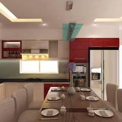 Thiết Kế Nội Thất Nhà Phố Đẹp Cho Ngôi Nhà Thêm Ấn Tượng:  Tủ bếp by Công ty TNHH Xây Dựng TM – DV Song Phát