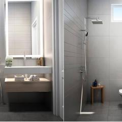Thiết Kế Nội Thất Nhà Phố Đẹp Cho Ngôi Nhà Thêm Ấn Tượng:  Phòng tắm by Công ty TNHH Xây Dựng TM – DV Song Phát,