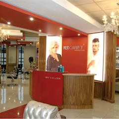 Red Carpet Hairdressing :  Commercial Spaces by ANTONIO DE FRANCA HOME DESIGNS, Minimalist