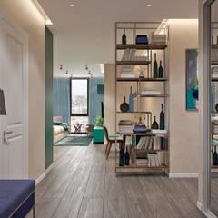 Квартира 80 кв.м. в современном стиле в ЖК «Квартал 38А»: Коридор и прихожая в . Автор – Студия архитектуры и дизайна Дарьи Ельниковой