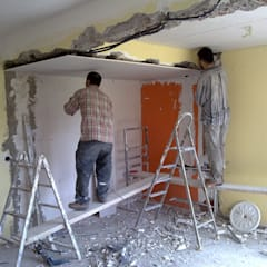 PLAN B – VİLLA RENOVASYON PROJESİ-ANKARA:  tarz Duvarlar
