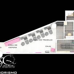 Diseño interior comercial : Spa de estilo  por MAHO arquitectura y diseño, C.A