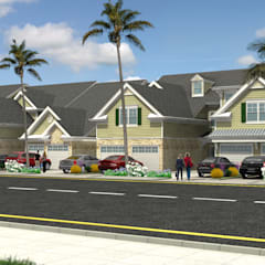 Exterior Architectural Rendering:  Clinics by 3D Rendering India