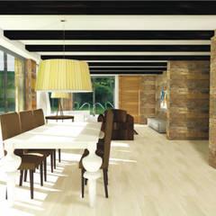 Salón Comedor: Comedores de estilo rústico de Asun Montoya Estudio Interiorismo
