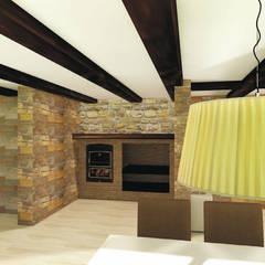 Barbacoa interior: Bodegas de estilo  de Asun Montoya Estudio Interiorismo