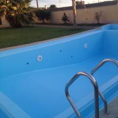 JP Revestimentos, Isolamentos e Piscinas:  tarz Bahçe havuzu