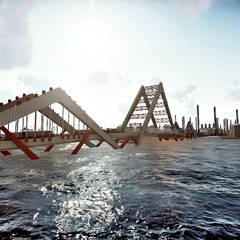Nuevo Puente Levadizo Propuesta 1: Cavas de estilo industrial por GARBO Arquitectos