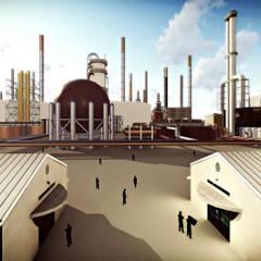 Area de Refineria: Cavas de estilo industrial por GARBO Arquitectos